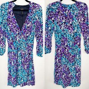 LAUNDRY by Shelli Segal casual v-neck mosiac dress